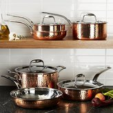 Crate & Barrel Lagostina Martellata Hammered Copper 10-Piece Cookware Set