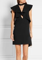Goen.j Ruffle Shoulder Dress Black