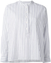 Margaret Howell striped collarless blouse