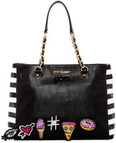 Betsey Johnson Faux Leather Sticky Situation Tote