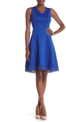 Donna Ricco Lace Hem Dress