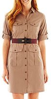 JCPenney Worthington® Military Belted Shirtdress