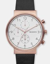 Skagen Ancher Black Chronograph Watch