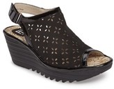 Fly London Women's Ybel Open Toe Platform Wedge