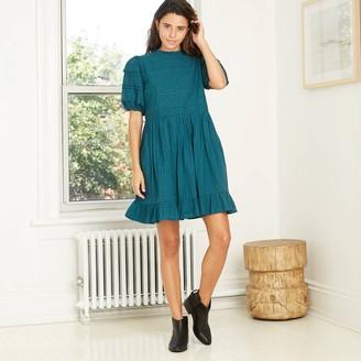 Universal Thread Women's Puff Short Sleeve Eyelet Dress - Universal ThreadTM