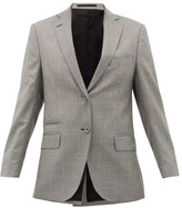Officine Generale Charlene Houndstooth Wool-blend Blazer - Womens - Grey