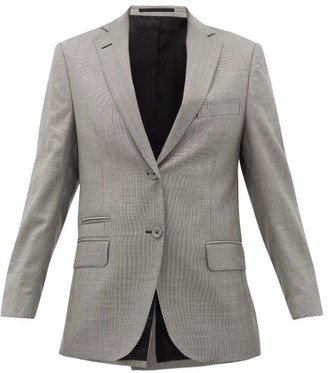 Officine Generale Charlene Houndstooth Wool-blend Blazer - Grey