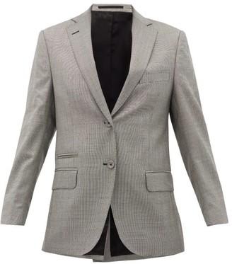 Officine Generale Charlene Houndstooth Wool-blend Blazer - Womens - Grey