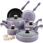 Paula Deen Signature Porcelain 15-Piece Lavender Cookware Set with Lids