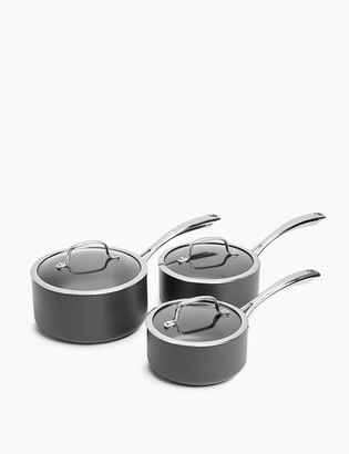 Marks and Spencer 3 Piece Hard Anodised Pan Set