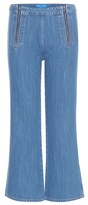 MiH Jeans Arrow Flared Cropped Jeans