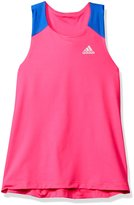 adidas Big Girls' Colorblocked Twist Back Tank