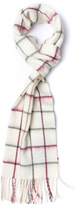 Barbour Tatersall Cream Lambswool Scarf