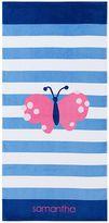 Pottery Barn Kids Butterfly Classic Stripe Kid Beach Towel