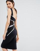 Quontum Tall Wrap Back Bodycon Midi Dress