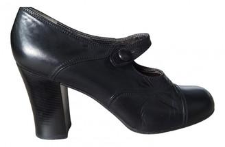 Prada Mary Jane Black Leather Heels
