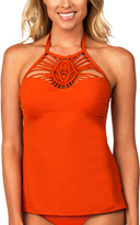 Leilani Orange Rincon Tankini Top