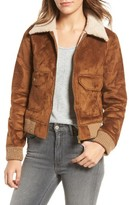 Mother Women's The Patch Pocket Faux Shearling Aviator Jacket