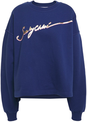See by Chloe Metallic Printed Cotton-fleece Sweatshirt