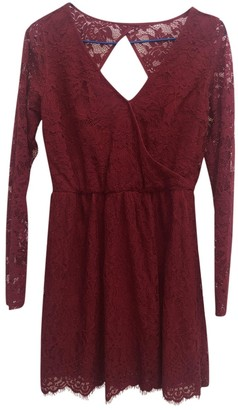 Abercrombie & Fitch Burgundy Lace Dress for Women