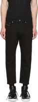 Diesel Black D-Brag Cropped Jeans