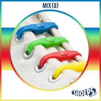 Shoeps Elastic Laces, 8 pieces - - Multi-Colour
