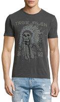 True Religion 4th Ave Headdress Graphic Short-Sleeve T-Shirt, Black