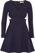 Halston Cutout neoprene mini dress