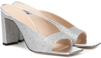Wandler Isa glitter sandals
