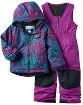 Columbia Toddler Girl OUTGROWN Fleece-Lined Jacket & Reinforced Bib Snow Pants Set