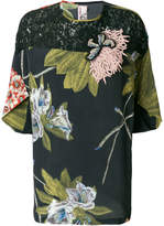 Antonio Marras floral print blouse with embroidery and lace details