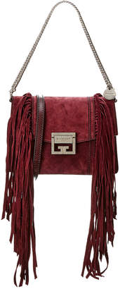 Givenchy Gv3 Fringe Small Suede Crossbody