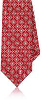 Barneys New York Men's Medallion-Motif Silk Jacquard Necktie