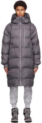 adidas by Stella McCartney Grey Padded Long Jacket