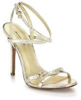 Michael Kors Jennie Metallic Leather Sandals