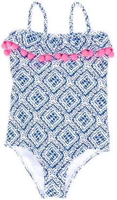 Sunuva Flounce Detail Patterned Swimsuit