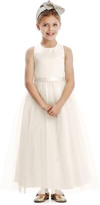 Dessy Collection Tulle Skirt Flower Girl Dress