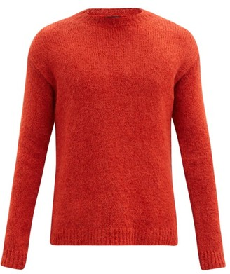 Ann Demeulemeester Crew-neck Alpaca-blend Sweater - Orange