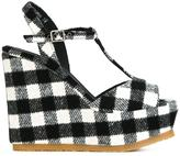 Castaner 'Urinis Plaid' wedge sandals
