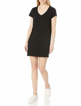 Michael Stars Women's Short Sleeve Vee Neck Dress with Pocket