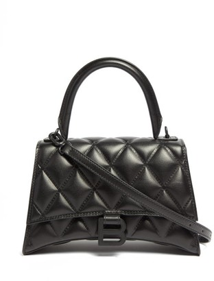 Balenciaga Hourglass Quilted-leather Shoulder Bag - Black