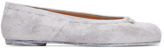 Maison Margiela SSENSE Exclusive White Painted Tabi Ballerina Flats