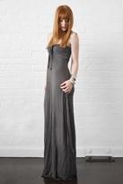 linQ Selene Strapless Long Dress in Mineral