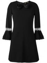 Saint Laurent babydoll bow mini dress