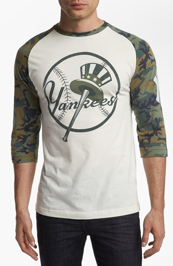 Camo Wright & Ditson 'Alliance - Yankees' Raglan T-Shirt