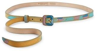 Burberry Printed Skinny Belt