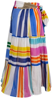 Silvia Tcherassi Gingham Binasco Skirt