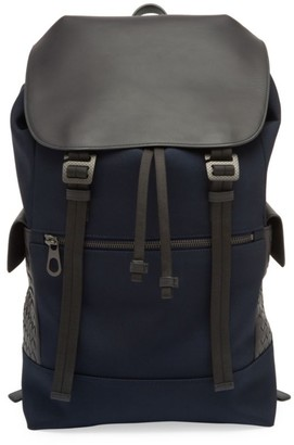 Bottega Veneta Leather & Canvas Backpack