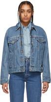 Levi's Levis Blue Denim Ex-Boyfriend Trucker Jacket