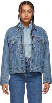 Levi's Levis Blue Denim Ex-Boyfriend Trucker Jacket